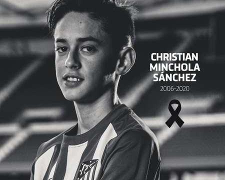 马竞官方:球队 U14 小将克里斯蒂安去世