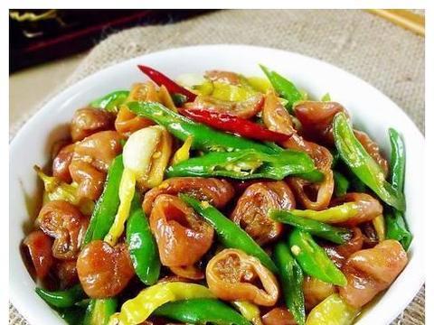 精选美食:青椒肥肠,干锅排骨,麻辣小章鱼炒荷兰豆,香辣虾做法