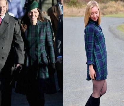 一女子模仿凯特王妃穿衣,再怎么看都觉得有点像卖家秀和买家秀