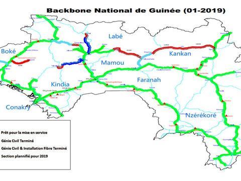 几内亚国家光纤骨干网络完工