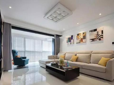 125平新房,阳台做个大改造,时尚漂亮,一家三口入住很幸福!
