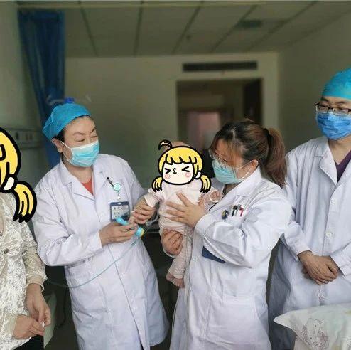 【社会】海原6个月大婴儿双肺变白、呼吸衰竭,治疗37天挽回生命!