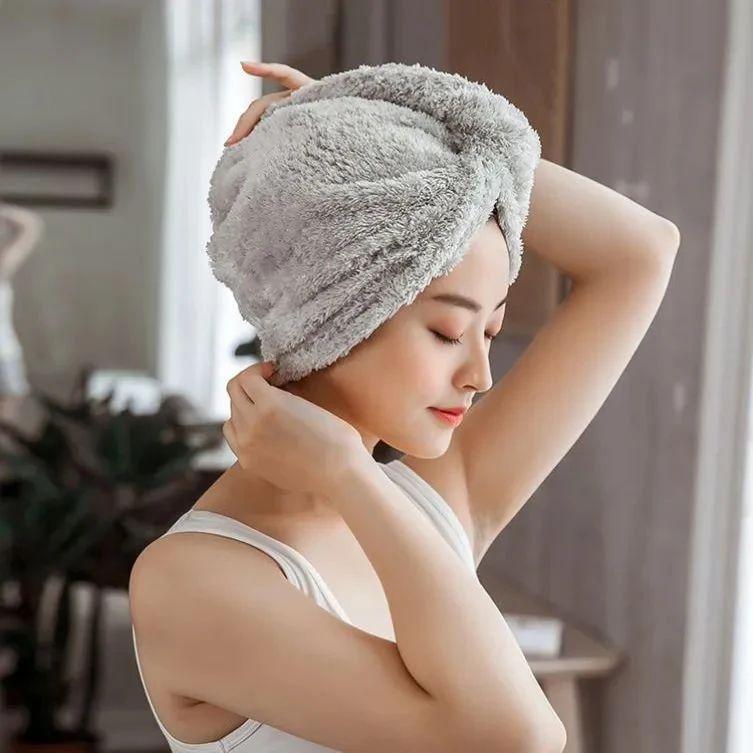 日本纳米级干发帽,玻尿酸加持,让头发柔顺如丝无静电!