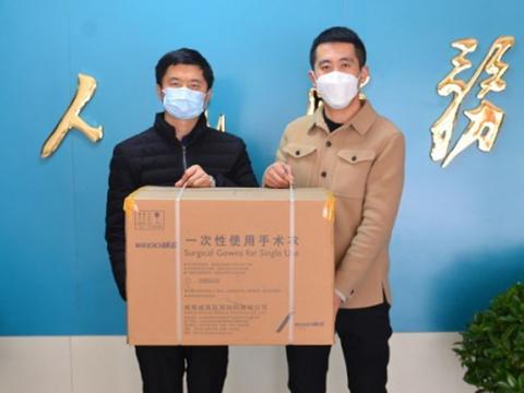 山东泰安爱心人士刘伟四次向泰安市中心医院捐赠医疗物资