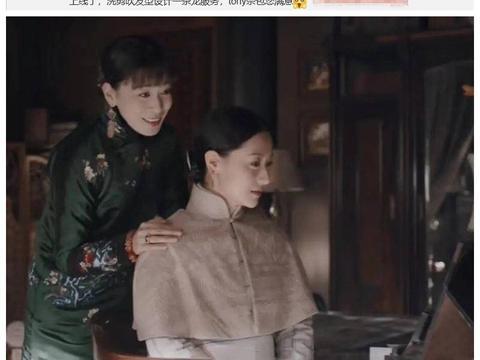 佘诗曼晒片场照,穿旗袍彰显美好身段,剪眉上刘海同框90后无压力
