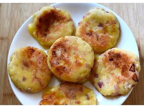 2个土豆,半个洋葱,加1碗糯米粉,早餐吃着香,天天不重样
