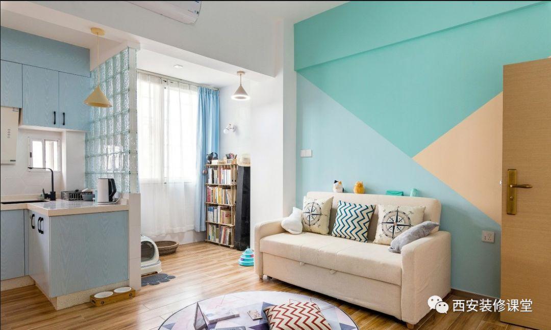 40m²1室1厅1厨1卫1阳台,单身美女的北欧极简