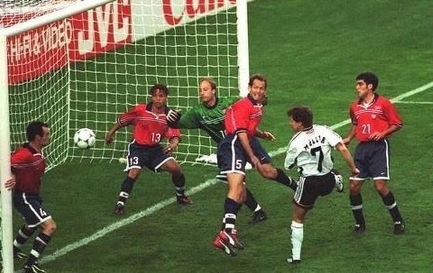 1998年世界杯德国2-0美国,穆勒首开纪录,克林斯曼锁定胜局
