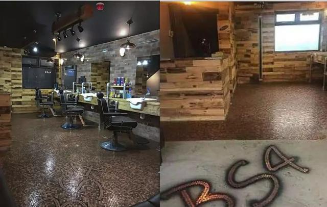 英国男子开发廊没钱装修,就用硬币铺地板,没想到因此生意火爆