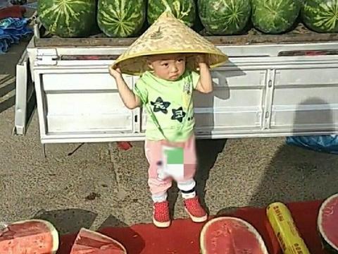 妈妈为锻炼孩子,让3岁儿子路边卖西瓜,乐的不可开支