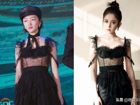 女星之间的撞衫,朴敏英宋茜,迪丽热巴唐嫣,谁更有感觉?