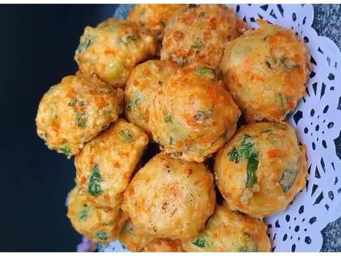 时蔬丸子的做法,口感外酥里嫩,颜值高又有营养,能不香吗?
