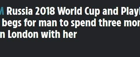 世界杯超模独自居家隔离!公开招募伴侣:希望一位勇士来拯救我!