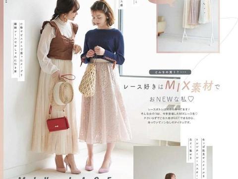 适合春季的蕾丝单品穿搭,半裙+T恤,连衣裙+高跟鞋,甜美又青春