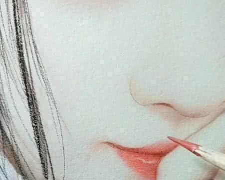 美术生为鞠婧祎画肖像,细节表达太赞了,眼睛里的人影都画出来了