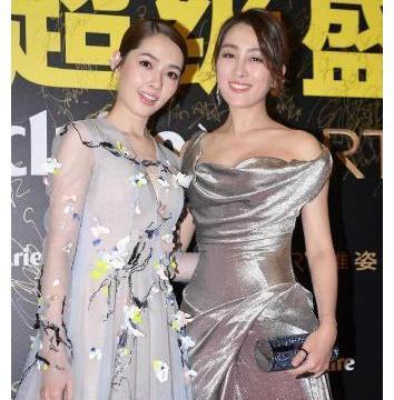 马苏郭碧婷同穿拖地连衣裙, 看到俩人上身效果, 女明星和豪门差距