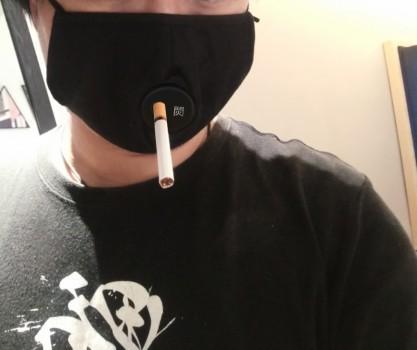 """""""使用吸烟,喝饮料专用口罩""""-多点防护,巩固抗疫成果"""