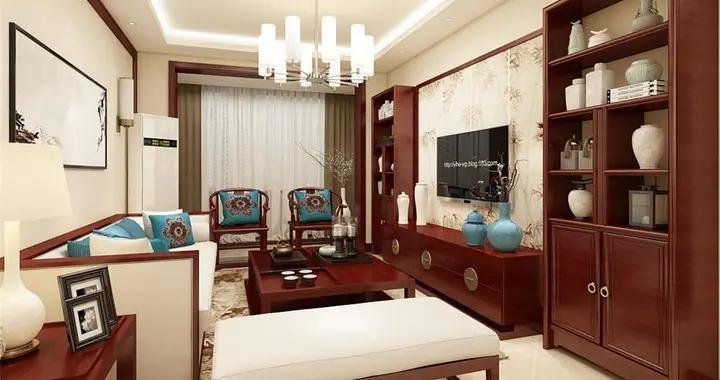 95平米二居室半包仅4万,太超值了!中式风格老婆最爱!-夏洛兹花园装修