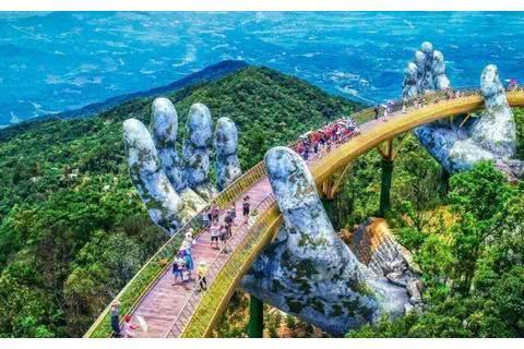 越南最美的大桥,立于半空之中,行走在上面有漫步云端之感