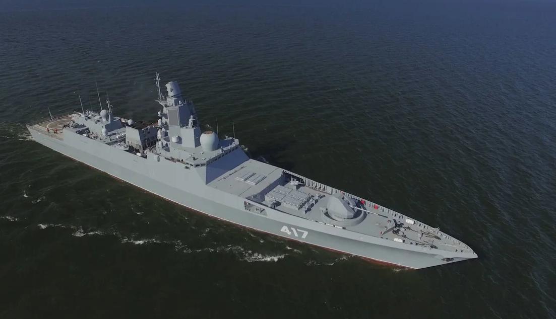 俄22350护卫舰,排水量与054A相当,但打击实效追赶052D