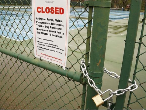 美国宣布:疫情原因,网球场地现在不允许开放