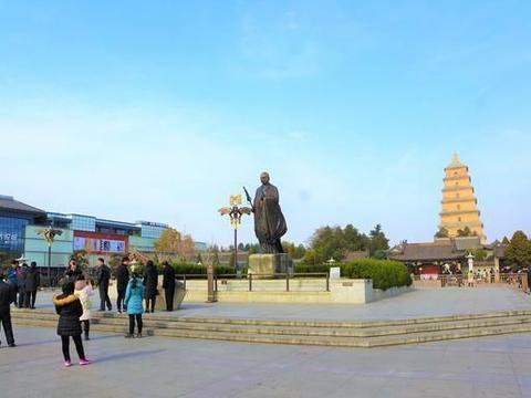 大雁塔,西安文化底蕴最深厚的地方,人气很旺