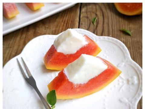 非常治愈的木瓜奶冻甜品,爽滑又嫩甜,女生常吃还养颜