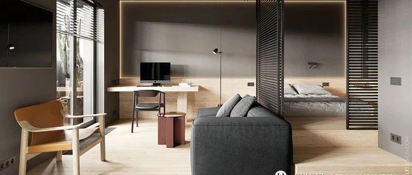 36平现代简约小户型:木质家,沉稳优雅,简净其华