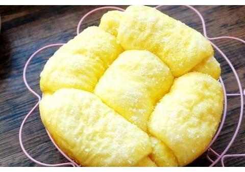 面包手工揉面,电饭煲烘烤,柔软拉丝超好吃,没有烤箱也能做