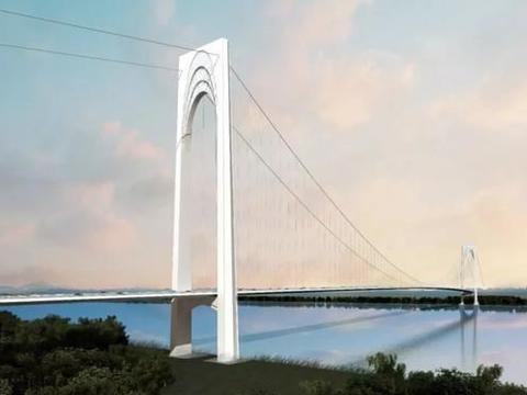 江苏打造的过江通道,主桥是平行索面悬索桥,设计时速100公里