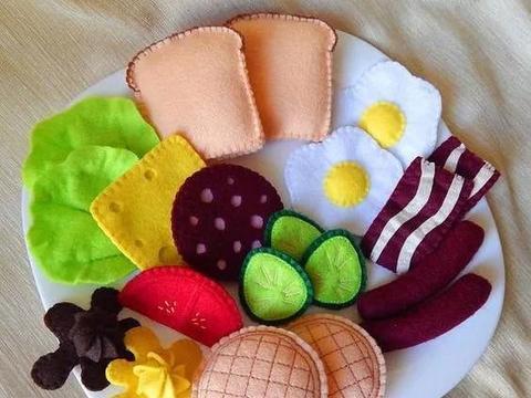 不织布蔬菜水果,孩子认识世界的最好手工玩具!DIY布艺附教程