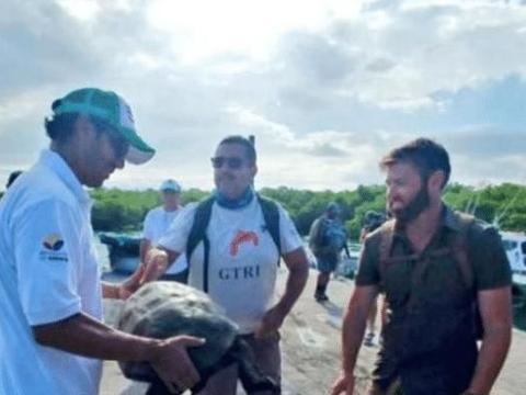 笑喷 藏了100年的灭绝巨龟被发现,一大把年纪还卖萌