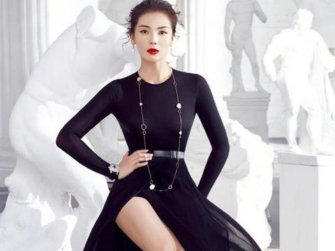 刘涛美出新高度,穿黑色开叉裙秀身材,网友:谁说娱乐圈没有贤妻