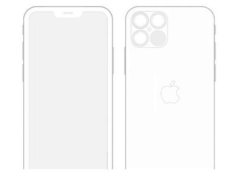 iOS14曝光iPhone 12 Pro设计图:刘海缩小1/3、四摄