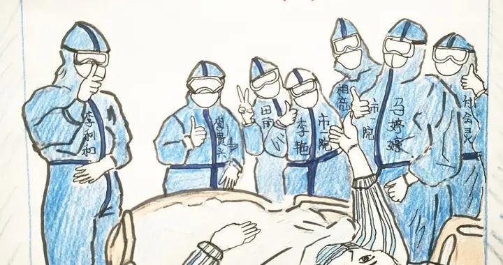 """""""疫""""线漫画丨济宁80后女护士 手绘画记录""""战友""""情谊"""