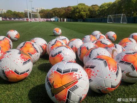 上港新闻官曝光中超新赛季用球:这个颜色叫做蟹壳黄