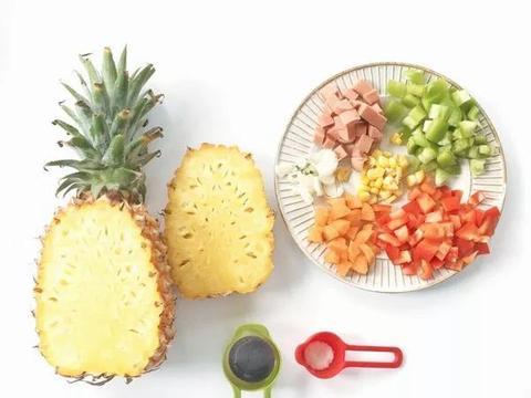 不用去泰国,厨师长教你做好看的什锦菠萝饭,太好学会了吧!