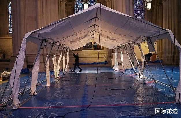 """纽约改造圣约翰大教堂成""""战地医院""""将搭建9顶医疗帐篷400张病床"""