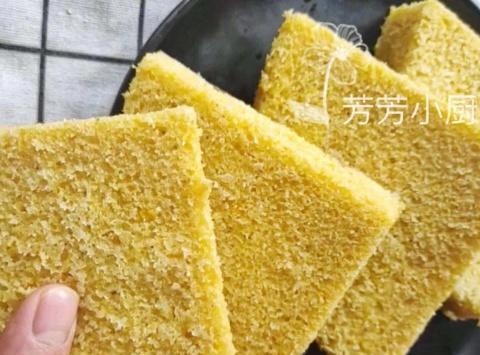 1碗玉米粉1碗面粉,教你秘制粗粮早餐饼,奶香松软,比面包还好吃