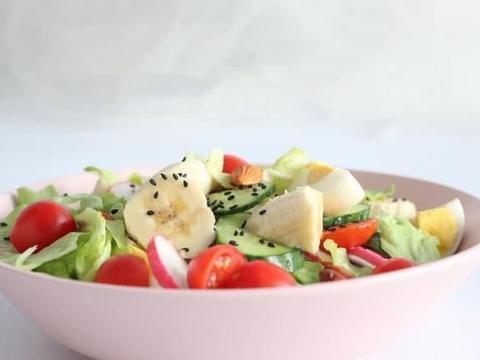 蒋欣的减肥餐果蔬沙拉,低脂又健康,这个夏天不要太瘦哦
