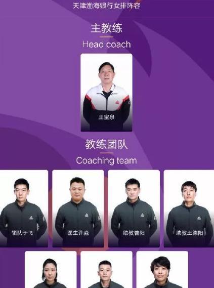 王宝泉出任天津女排主帅 国家队助教担任领队魏秋月老公任助教
