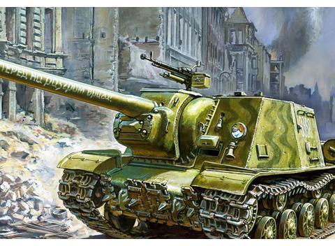 德国坦克的克星:苏联ISU-122自行火炮 高爆榴弹即可击毁装甲车