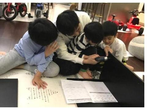 林志颖和儿子一起组装鞋柜 三个小帮手动手能力惊人