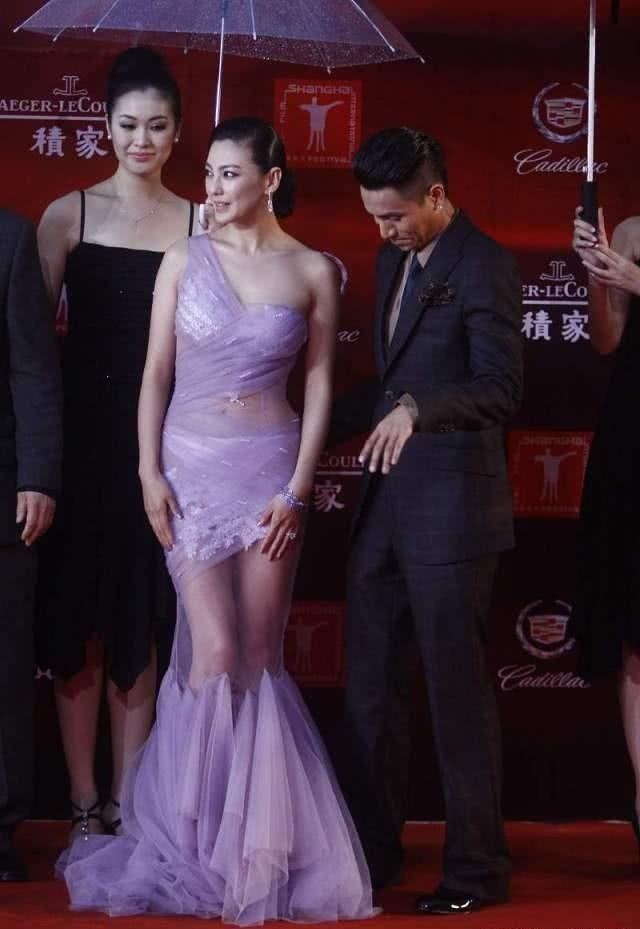 薄纱做成裙子穿到晚会的张雨绮,惊艳全场,胖也有别样的风采!