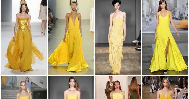 黄色系长裙大赏丨穿上淡黄的长裙,一个人在家里开狂欢的party