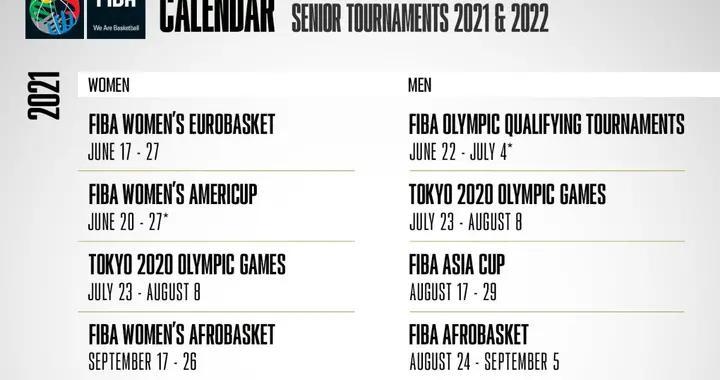 东京奥运会男篮落选赛推迟至2021年6月举行,欧洲杯美洲杯也推迟