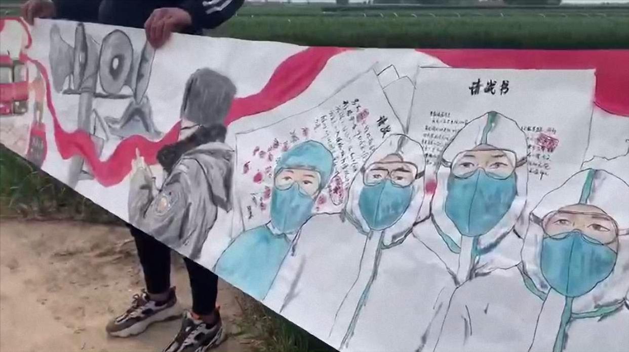 被宅70天绘出15米最美画卷!大学生用画笔记录30多个中国抗疫瞬间
