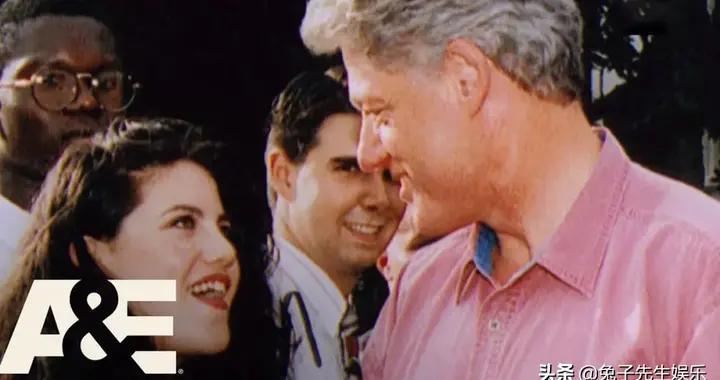 克林顿与22岁丑闻情人第一次握手照罕见曝光,莱温斯基太有心机了
