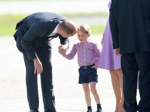 威廉王子面对大儿子乔治王子哭闹是如何处理的?