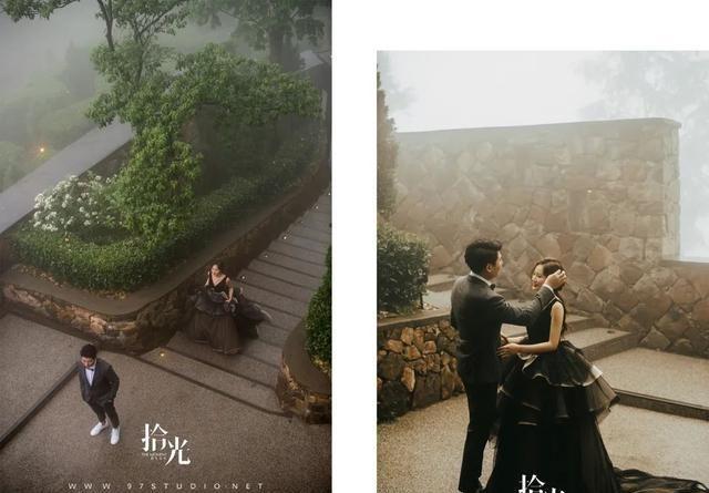 山顶的城堡婚礼,迷雾中童话般的仪式,独立有想法的新娘